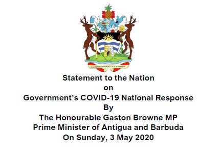 Statement to the Nation on Government's COVID-19 National Response by Prime Minister Gaston Browne