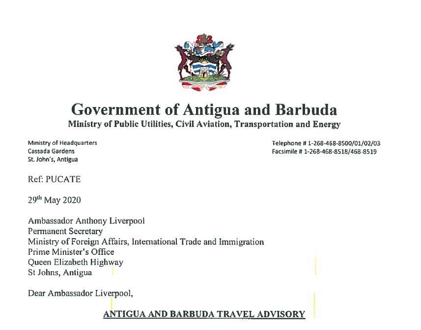Travel Advisory – Ministry of Civil Aviation