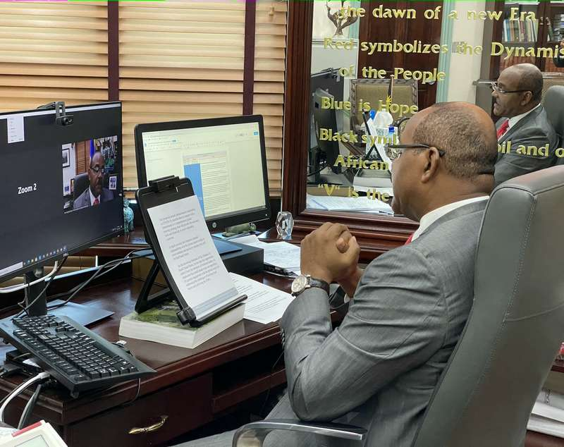Dario Item News Prime Minister Browne makes appeal for greater engagement with private (2)