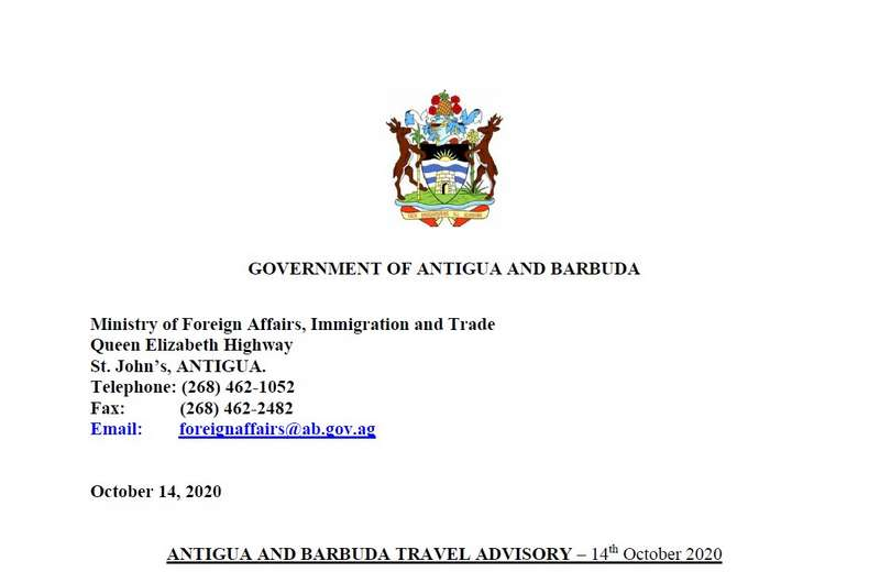 Updated Antigua and Barbuda Travel Advisory