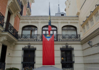 Dario Item embassy entrance