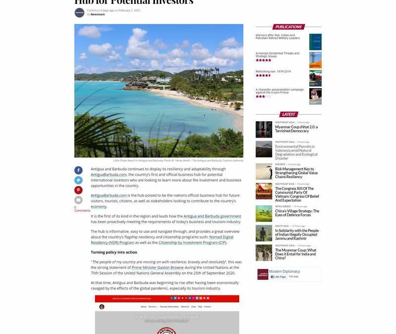 AntiguaBarbuda.com – the Official Business Hub for Potential Investors