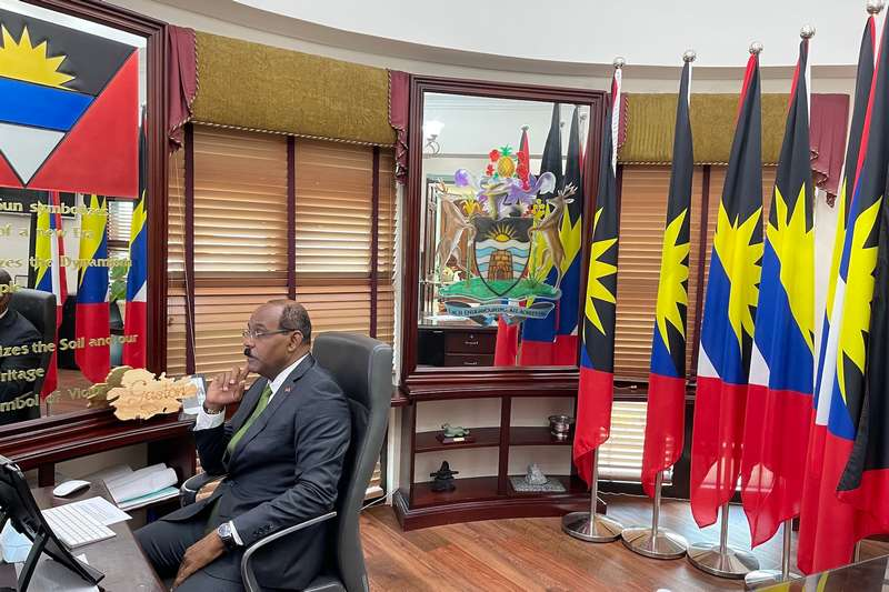 Antgua and Barbuda Prime Minister attends Biden Summit Of 40 World Leaders