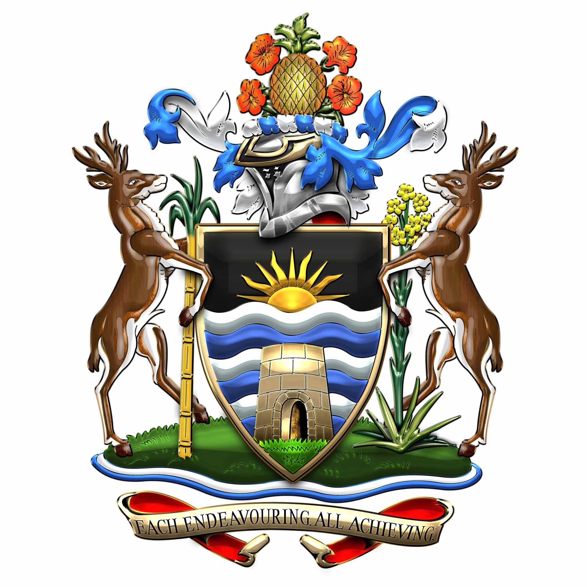 Dario Item antigua and barbuda embassy coat of arms