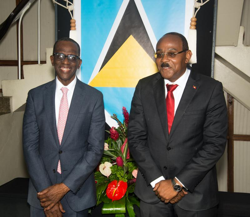 PM Browne attends swearing of St. Lucia's new Cabinet